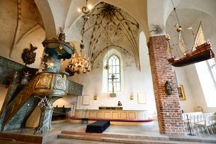 ポルヴォー大聖堂の内部の写真素材 [FYI02649684]