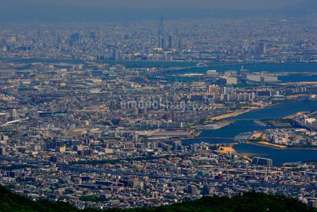 神戸 六甲展望台から阪神大阪方面の写真素材 [FYI02649699]
