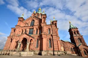 北欧最大規模ロシア正教会のウスペンスキー寺院の写真素材 [FYI02649704]