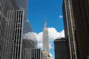 高層ビルの間のエンパイヤー,ステートビルの写真素材 [FYI02649820]