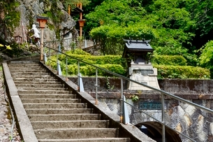 史跡,生野銀山,不動滝階段の写真素材 [FYI02649827]