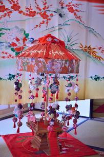 真壁のひなまつりに飾られた吊りし飾りの写真素材 [FYI02650043]