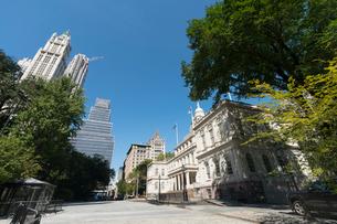 ニューヨーク市役所と夏の木々の写真素材 [FYI02650289]