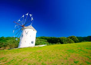 オリーブ公園の広場とギリシャ風車の写真素材 [FYI02650316]