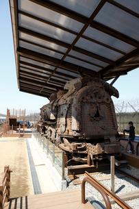 臨津閣の蒸気機関車の写真素材 [FYI02650854]