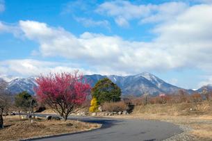 鈴鹿山脈と道の写真素材 [FYI02651218]