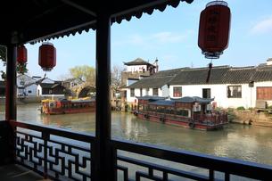 蘇州 寒山寺風景区聴鐘橋の写真素材 [FYI02651830]