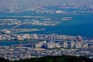 神戸 六甲展望台から阪神大阪方面の写真素材 [FYI02651871]
