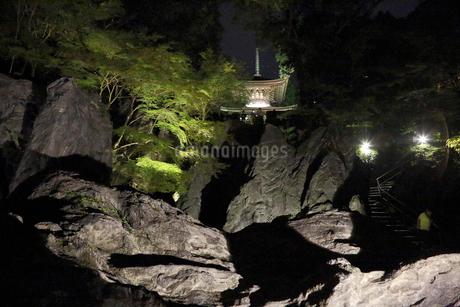 石山寺硅灰石ライトアップ(多宝塔を望む)の写真素材 [FYI02651976]