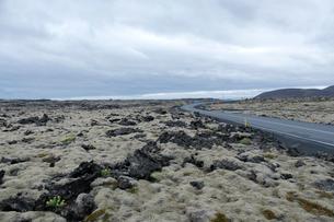 溶岩と道路43号線の写真素材 [FYI02652063]