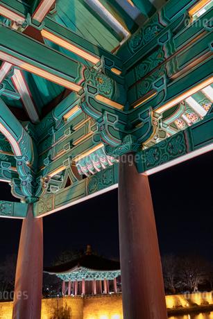 東宮と月池の写真素材 [FYI02652090]