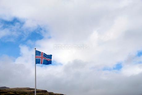 アイスランド国旗の写真素材 [FYI02652221]