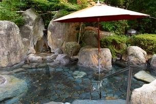 城下町鹿野温泉露天風呂の写真素材 [FYI02652283]