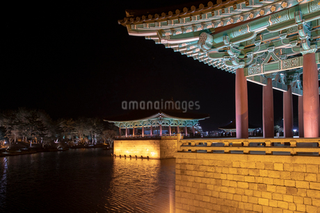 東宮と月池の写真素材 [FYI02652505]