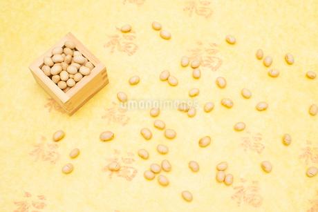 枡に入った煎り大豆の写真素材 [FYI02652536]