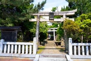 式内西刀神社鳥居の写真素材 [FYI02652613]