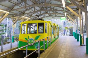 高尾山ケーブルカー 清滝駅の写真素材 [FYI02652629]