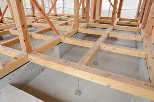 木造住宅の新築工事の写真素材 [FYI02652690]