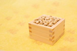 枡に入った煎り大豆の写真素材 [FYI02652900]