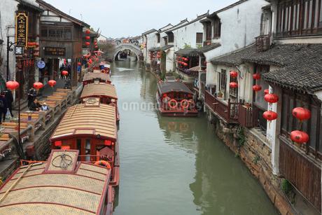 蘇州 水郷(運河)の写真素材 [FYI02652919]