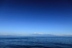駿河湾に浮かぶ富士山の写真素材 [FYI02652997]