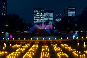 日比谷公園キャンドルライトアップの写真素材 [FYI02653050]