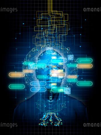 AI制御されるロボットイメージのイラスト素材 [FYI02653377]