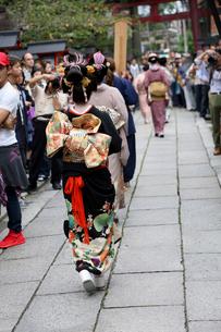 安井金毘羅宮櫛祭りの写真素材 [FYI02653390]