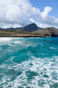 カウアイ島のマハウレプの海の写真素材 [FYI02653716]
