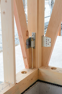 木造住宅の新築工事の写真素材 [FYI02653870]
