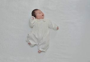 左上を見ている赤ちゃんの写真素材 [FYI02654284]