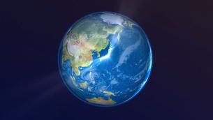 地球上で輝く日本の写真素材 [FYI02654527]