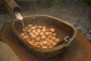 黒川温泉 いこい旅館の温泉卵の写真素材 [FYI02655021]