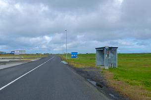 サンドゲルディのバス停の写真素材 [FYI02655491]