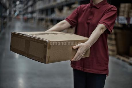 箱を持っている女性イメージの写真素材 [FYI02655559]