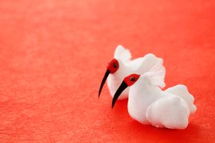 ちりめん細工の朱鷺の写真素材 [FYI02656147]