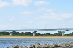 フェニックス大橋と信濃川の写真素材 [FYI02656224]