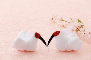 ちりめん細工の朱鷺の写真素材 [FYI02656360]