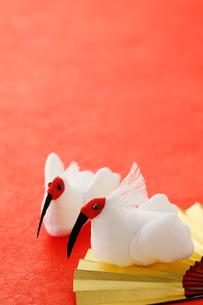 ちりめん細工の朱鷺の写真素材 [FYI02656444]