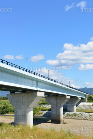 フェニックス大橋と渋海川の写真素材 [FYI02656551]