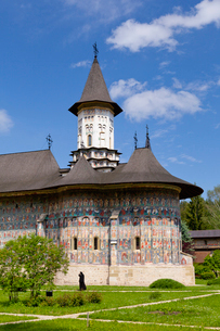 スチェヴィツァ修道院の写真素材 [FYI02656825]