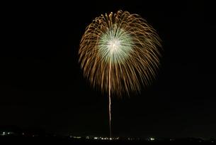 いばらきまつり花火で10号玉の八重芯錦冠菊銀乱の写真素材 [FYI02657953]