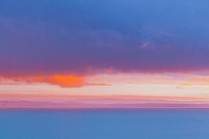 バラトン湖,朝焼けの写真素材 [FYI02657968]
