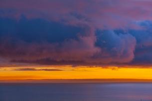 バラトン湖,朝焼けの写真素材 [FYI02658082]