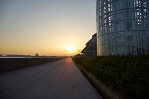 境港の夕景の写真素材 [FYI02658213]