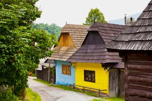 ヴルコリネツ村の家並みの写真素材 [FYI02658516]