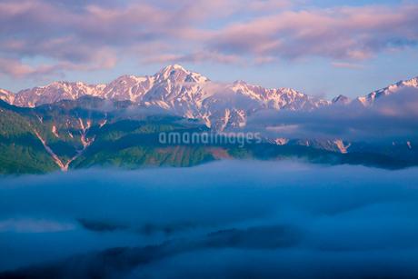 朝の白馬連峰の写真素材 [FYI02658727]