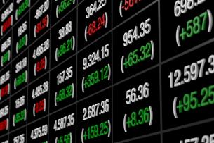株価のボードのイラスト素材 [FYI02658805]