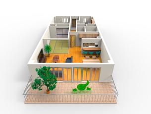 マンションの立体見取り図のイラスト素材 [FYI02658913]