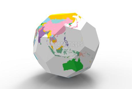 立方体の地球儀のイラスト素材 [FYI02659473]